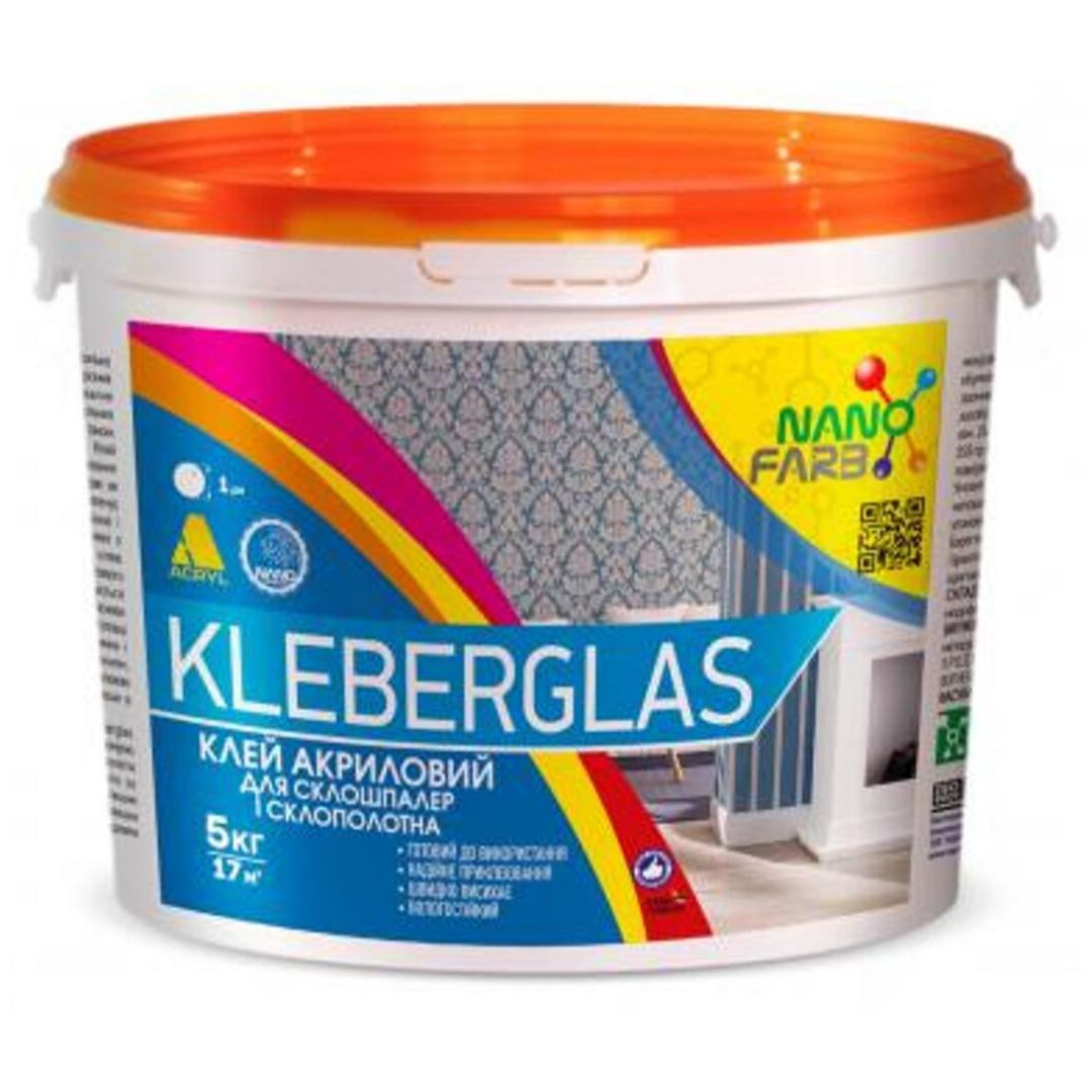 Клей для стеклообоев и стеклохолста NanoFarb Kleberglas 5кг
