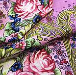 Мечты о счастье 1665-6, павлопосадский платок шерстяной с шелковой бахромой, фото 3
