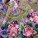 Мечты о счастье 1665-6, павлопосадский платок шерстяной с шелковой бахромой, фото 5