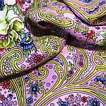Мечты о счастье 1665-6, павлопосадский платок шерстяной с шелковой бахромой, фото 4