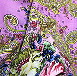 Мечты о счастье 1665-6, павлопосадский платок шерстяной с шелковой бахромой, фото 7