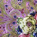 Мечты о счастье 1665-6, павлопосадский платок шерстяной с шелковой бахромой, фото 6