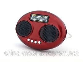 Kipo KB-815 2W стерео колонка, FM MP3, красная, фото 3