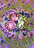 Мечты о счастье 1665-6, павлопосадский платок шерстяной с шелковой бахромой, фото 10