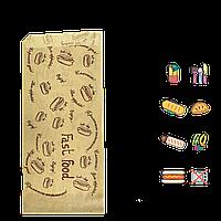 "Бумажный пакет Уголок Крафт ""FAST FOOD"" 200х85мм (ВхШ) 40г/м² 500шт (44) , фото 1"