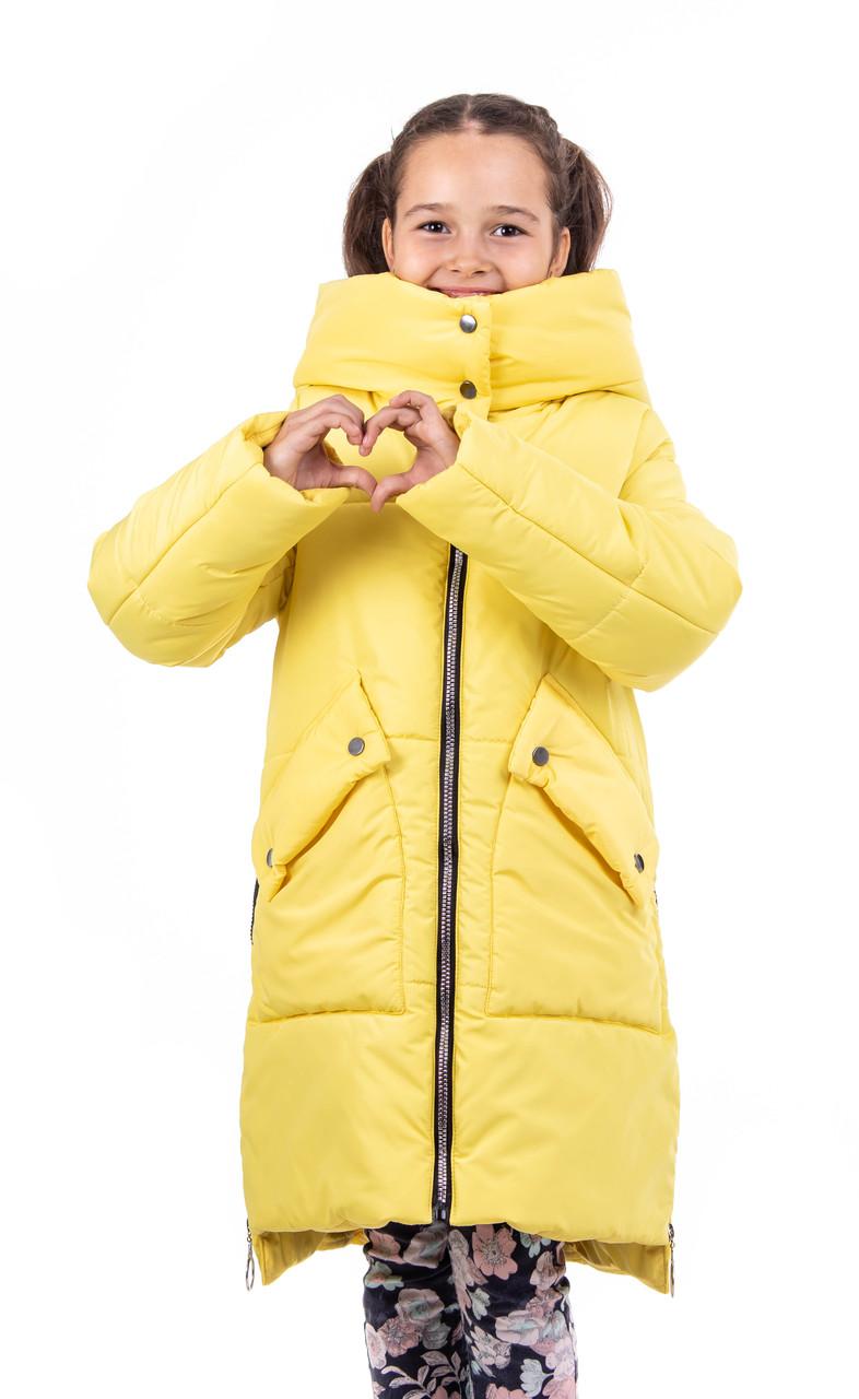 Зимняя курточка для девочки  от производителя   34-40  желтый