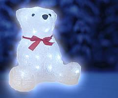 Светодиодное украшение Медведь Lumion 40 led для внутреннего использования акриловая белая колба
