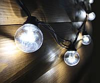 Уличная светодиодная ретро-гирлянда лампочки Lumion Galaxy Bulb String 10м 50 ламп наружная цвет белый холод.