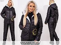 Зимний костюм женский из плащевки на синтепоне MБ/-1008