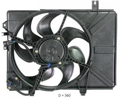 Вентилятор радиатора Hyundai Getz (AVA)