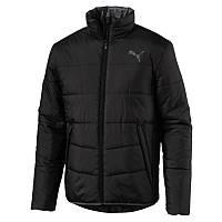 Куртка спортивная мужская Puma Ess Padded Jacket 851597 01 (черная, осень-зима, прямого кроя, логотип пума), фото 1