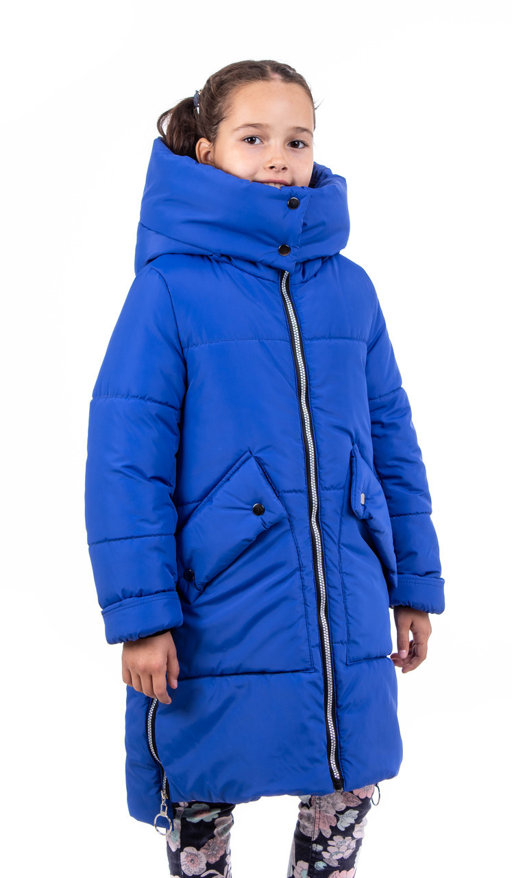 Зимова куртка парку для дівчинки підлітка 34-40 електрик