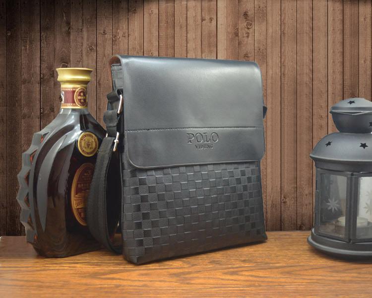 Videng Polo через плечо мужская стильная сумка квадраты