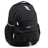 """Школьный рюкзак """"Dolly"""" с карманом для сменной обуви черный"""