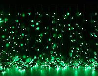 Уличная светодиодная гирлянда Штора Lumion Curtain (Куртейн) 456 led цвет зеленый без каб пит