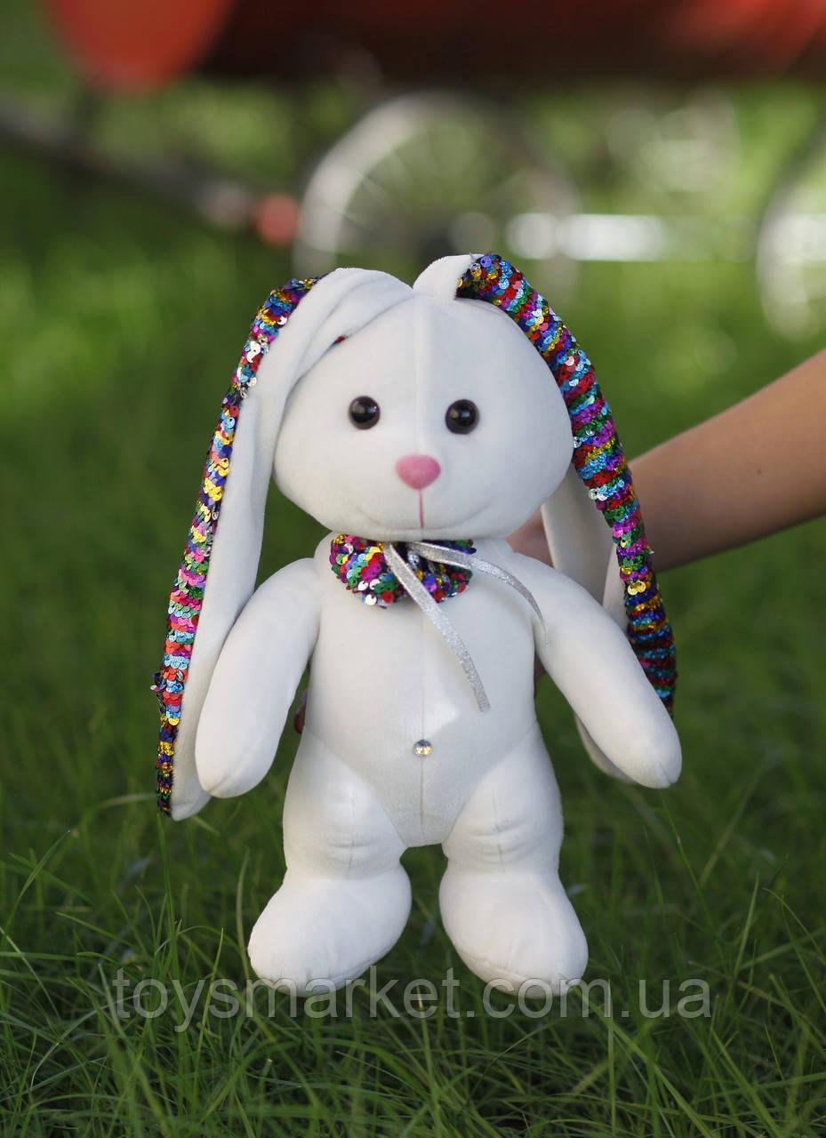 Мягкая игрушка Зайка Мупси с пайетками