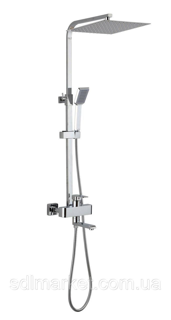 Душевая система для ванны VAN-GLM-0007 CUB GLOBUS Lux с верхним душем
