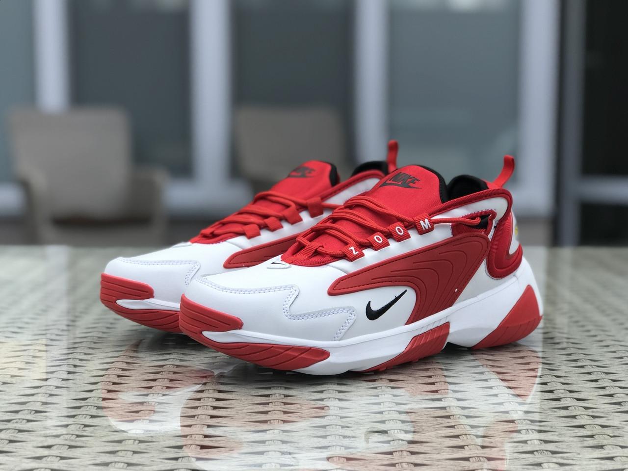 Мужские кроссовки Nike Zoom 2K,красные с белым