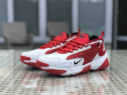 Мужские кроссовки Nike Zoom 2K,красные с белым, фото 2