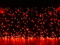Уличная светодиодная гирлянда Штора Lumion Curtain (Куртейн) 912 led цвет красный без каб пит