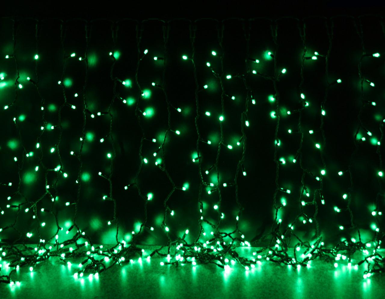 Уличная светодиодная гирлянда Штора Lumion Curtain (Куртейн) 912 led наружная цвет зеленый