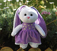 """Мягкая игрушка зайка """"Принцесса"""", плюшевая игрушка заяц, игрушка зайчик, фото 1"""