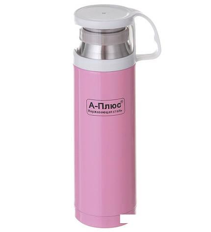 Термос  A-PLUS 500 мл (1779) Розовый, фото 2