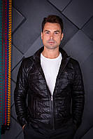 Куртка кожаная мужская Oscar Fur 419 Черный