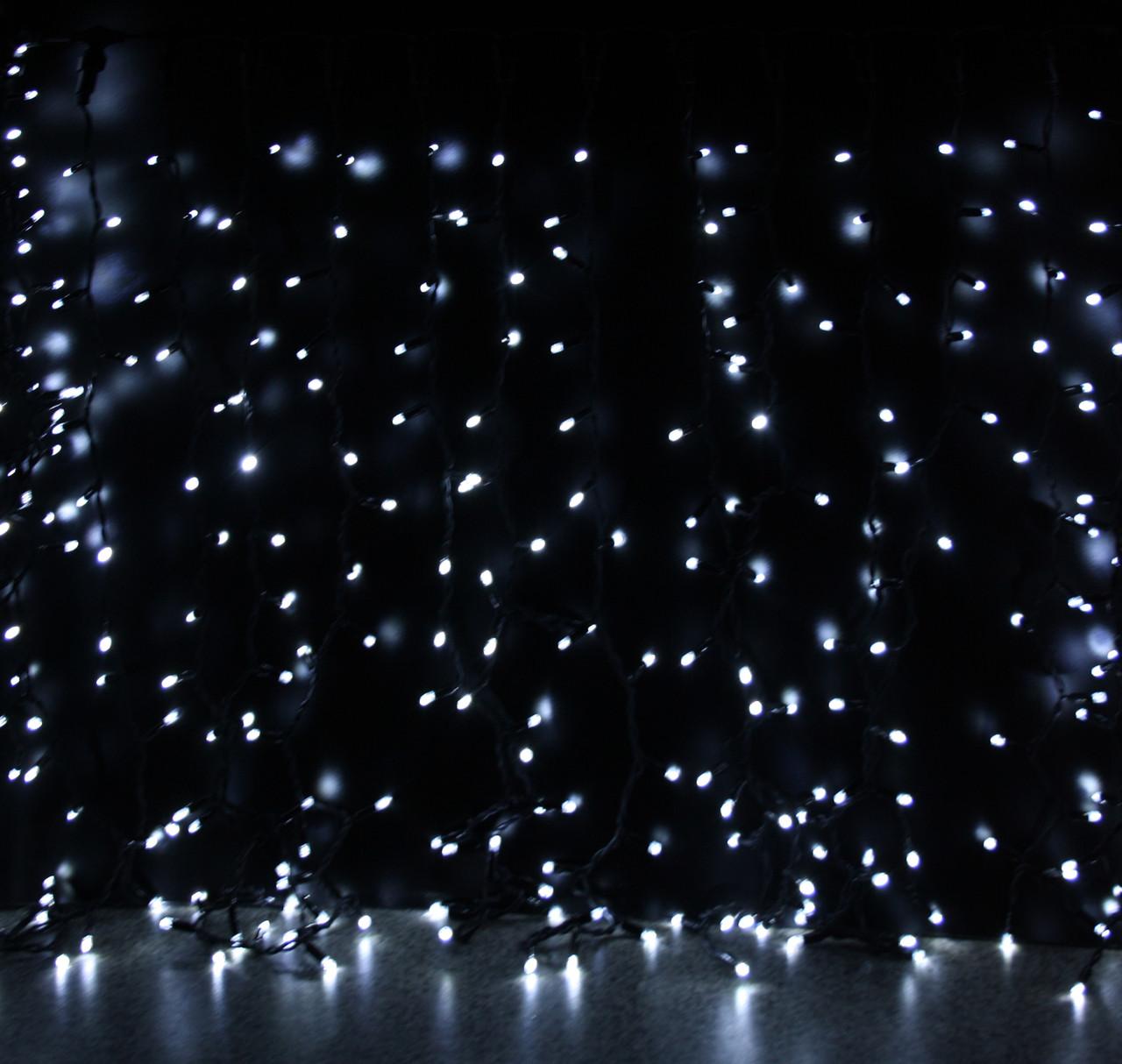 Уличная светодиодная гирлянда Штора Lumion Curtain (Куртейн) 288 led наружная цвет белый холодный