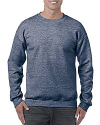 Реглан Heavy Blend, меланж синий, GILDAN, размеры от S до 2XL