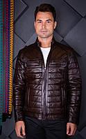 Куртка кожаная мужская Oscar Fur 419-2  Коричневый, фото 1