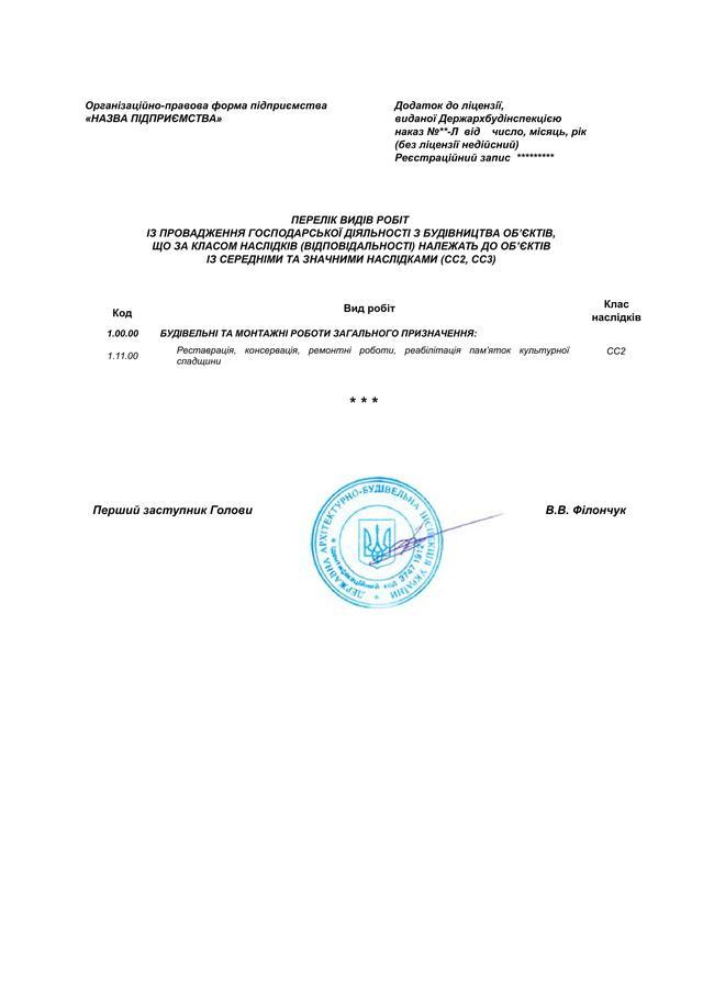 строительная лицензия на реставрацию культупного наследия