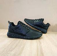 NIKE Roshe Run OREO Мужские кроссовки точная копия черные с подошвой космос  Вьетнам
