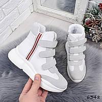 Кроссовки женские Dressy белые 6348 деми, фото 1