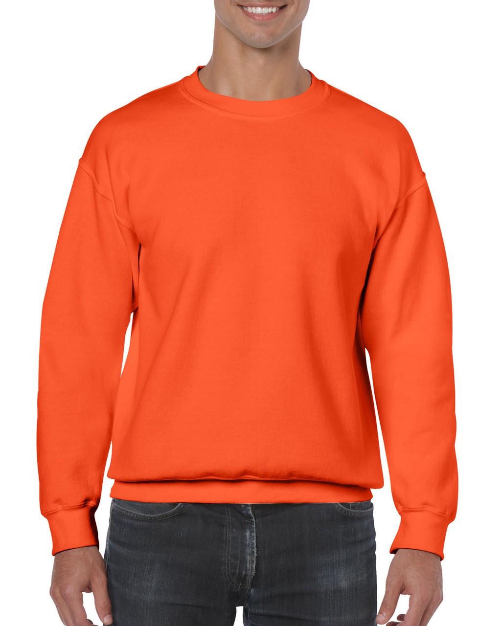 Реглан Heavy Blend, оранжевый, GILDAN, размеры от S до 2XL