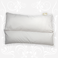 Подушка для сна 50х70 с гречневой лузгой (шелухой) + холлофайбер, ткань - бязь