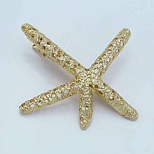 Шпилька для волосся Морська зірка золотиста