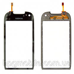 Сенсорный экран для Nokia C7-00, черный, оригинал