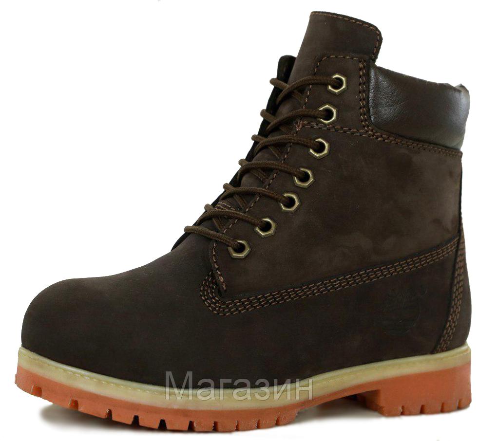 Женские зимние ботинки Timberland 6 Winter Boots Brown зимние Тимберленд С МЕХОМ коричневые
