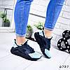 Кроссовки женские в стиле Huarache синий + голубой 6737