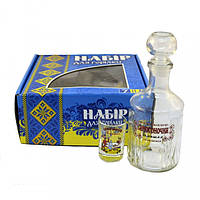 Набор для водки графин 1л, рюмки 50мл 6шт. с декором