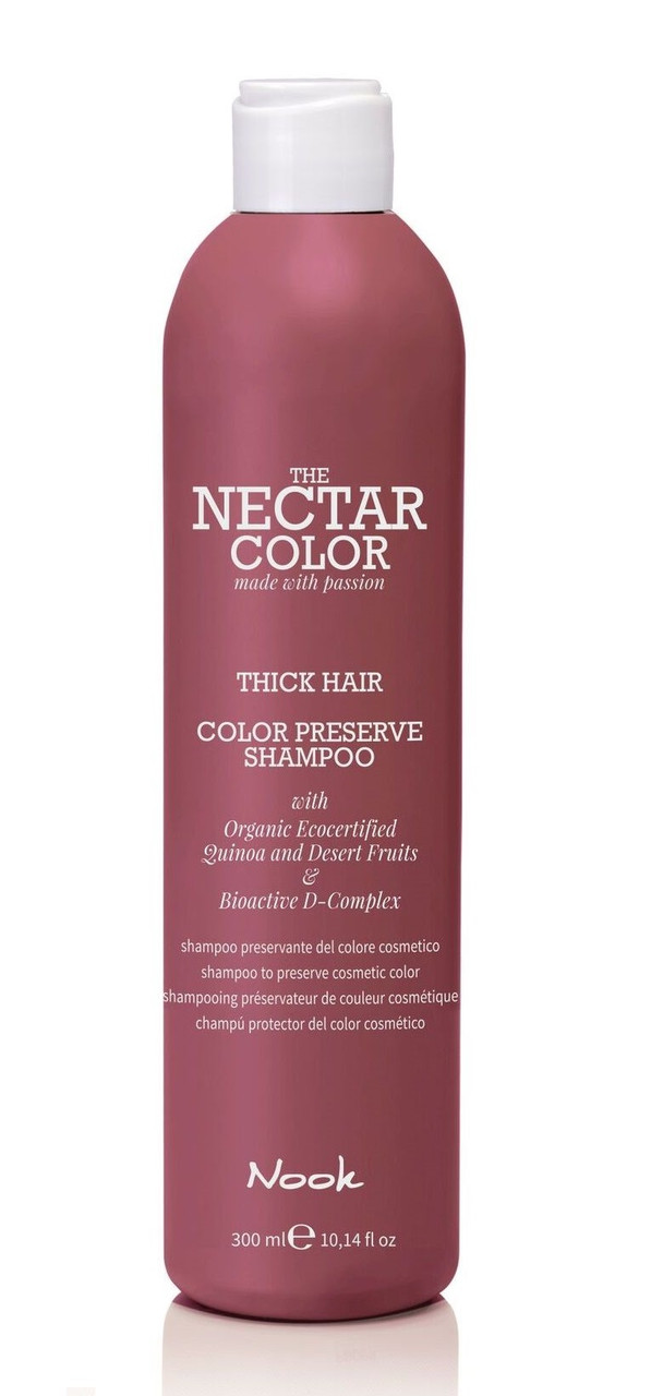 """Шампунь """"Стійкість кольору"""" для твердих і щільних волосся NOOK color"""