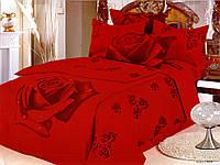 Комплект постільної білизни Le Vele Gullu Red сатин сімейне
