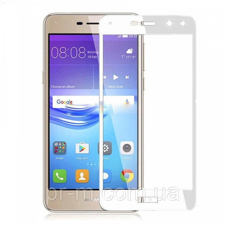 Защитное стекло Full Cover Huawei Y3 2017, White