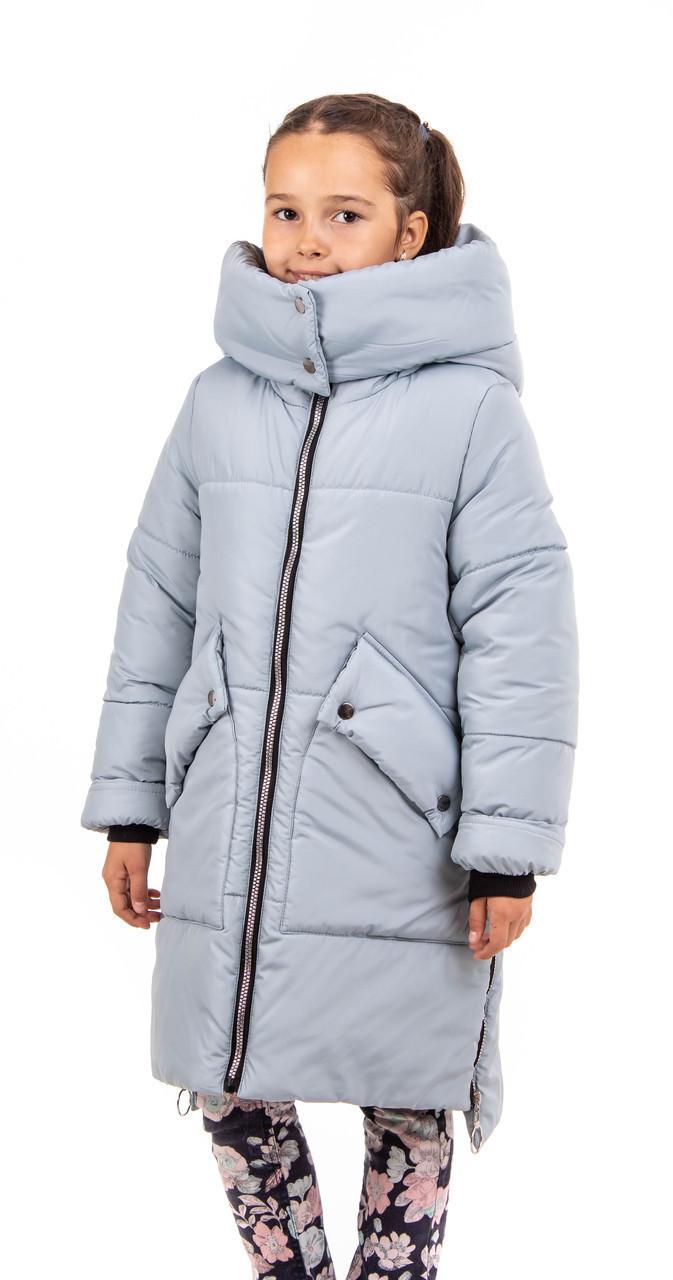 Зимние куртки для девочки с натуральным мехом  34-40  ментол