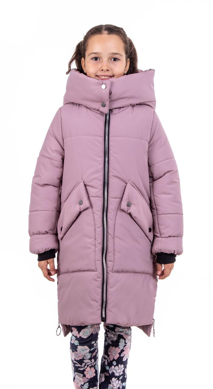 Куртка для дівчаток зима інтернет магазин 34-40 темна пудра