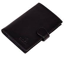 Чоловіче портмоне Eminsa 1001-17-1 шкіряне з відділенням для паспорта чорне