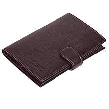 Чоловіче портмоне Eminsa 1001-17-3 шкіряне з відділенням для паспорта коричневе