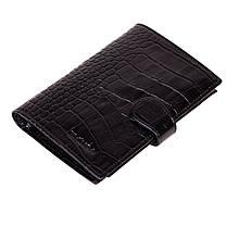 Чоловіче портмоне Eminsa 1001-4-1 шкіряне з відділенням для паспорта чорне
