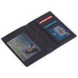 Обложка на паспорт Eminsa 1523-18-1 кожаная черная, фото 3